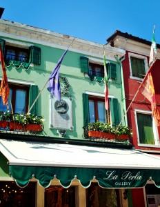 a palette of bright colors, Burano